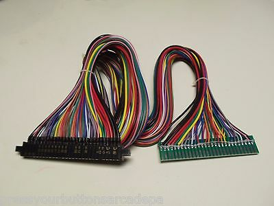 3' FULL Jamma Harness Extension - Wires at ALL 56 Pins