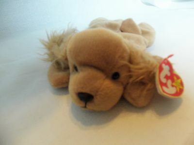 edcd91f4b98 TY Beanie Babies Cocker Spaniel Puppy    SPUNKY    5th Generation New w