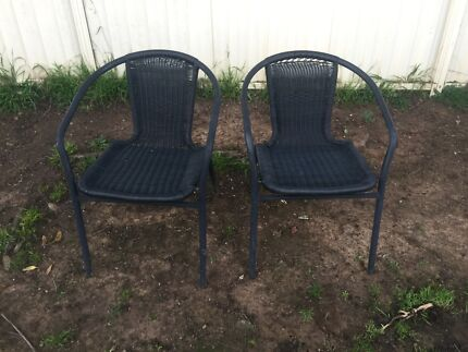 Outdoor chairs x2 Green Valley Liverpool Area Preview