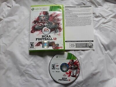 NCAA Football 12 (Microsoft Xbox 360, 2011) EA sports college game