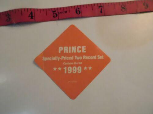Prince 1999 Record Label Sticker RARE   B20