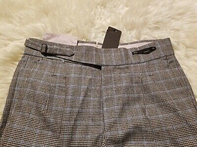 NWT $750 PT01 FLANNEL WOOL OF PT05 COHEN PANTS 34 MINI Houndstooth RETRO