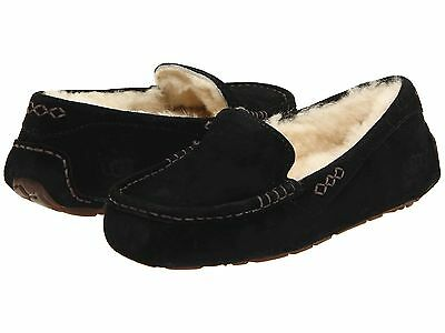 Women's Shoes UGG Ansley Moccasin Slippers 3312 Black 5 6 7 8 9 10 11 *New* ()