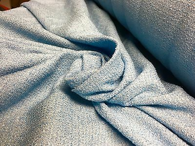 BEAUTIFUL BLUE WOOL DRESS / CURTAIN / UPHOLSTERY FABRIC 20 METRES