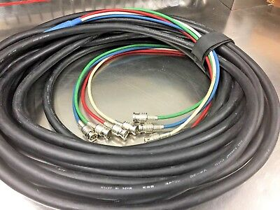 Canare Multi Channel - V4-3C or V5-3C Canare RGB HD-SDI BNC  Coaxial Video Cable Multichannel 75 ohm