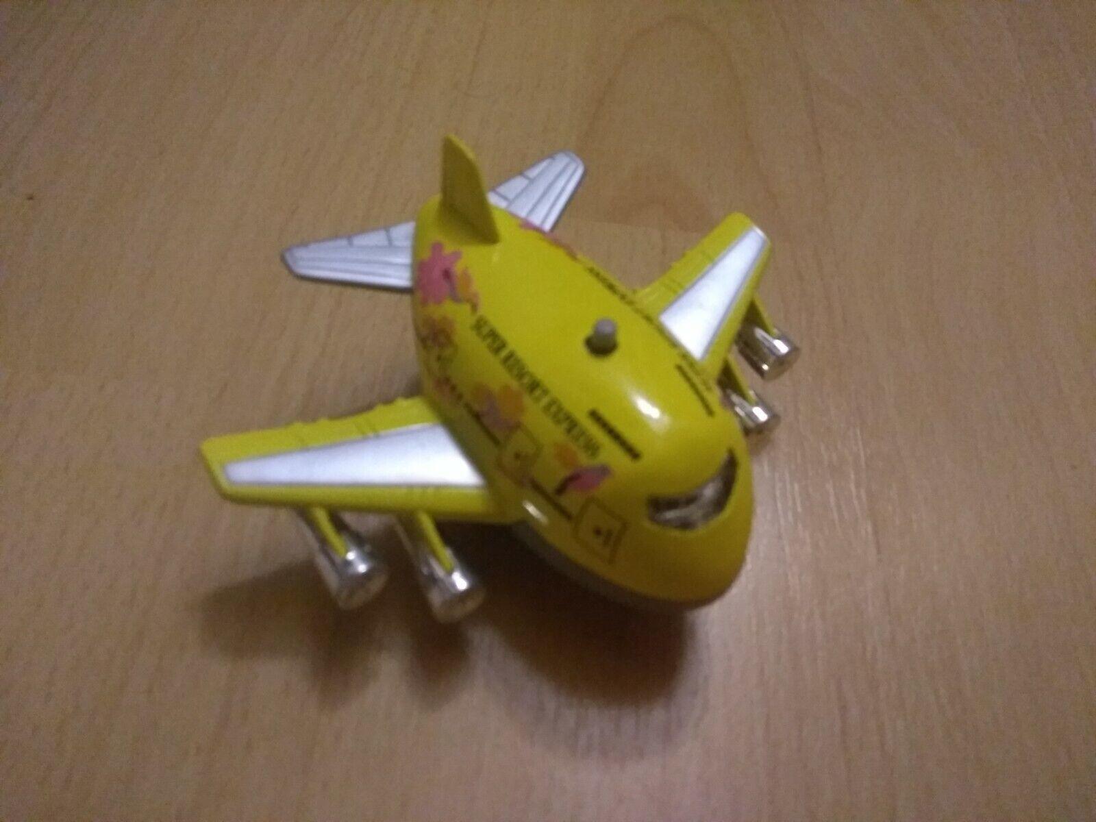 Flugzeug Metall mit Sound und Rückzugsmotor gelb
