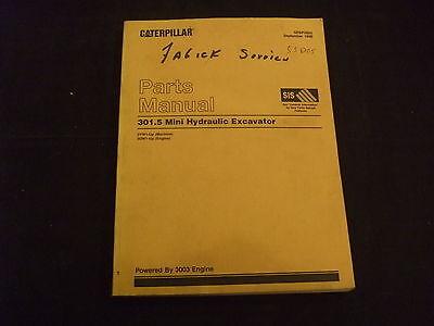 Cat Caterpillar 301.5 Mini Excavator Parts Book Manual Sn 3yw1-up