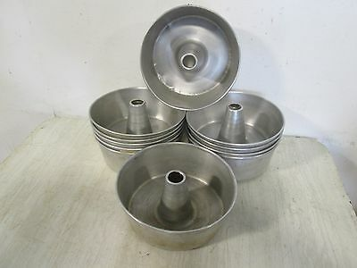 Lot Of 11 Commercial Angel Foodsbundt Cake Aluminum Fluted Tube Baking Pan