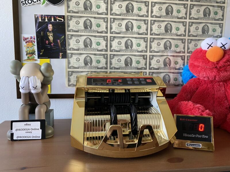 Gold Plated Money Counter | Brand New Multi-Currency | *NOT BEN BALLER COUNTER*
