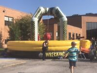 Inflatable wrecking ball 20ft round for rent