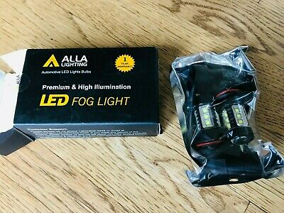 Alla Lighting 9006 LED 80W-SMD Fog Light Bulb Driving Lamp Xenon White 6000K,2PC
