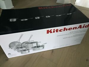 KitchenAid 10 piece stainless steel cookware new in box