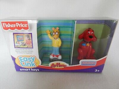 Fisher-Price Easy Link Internet Launch Pad  Smart Keys Arthur and Clifford New