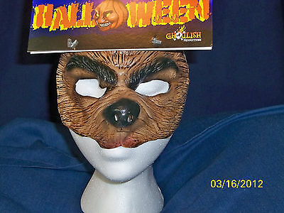ADULT OR KIDS WEREWOLF WOLF ANIMAL HALF SOFT LATEX FACE MASK COSTUME TA494](Wolf Mask Kids)