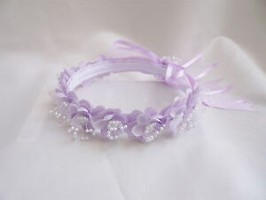 NEW-LILAC-HEADPIECE-CROWN-TO-MATCH-FLOWER-GIRL-DRESS