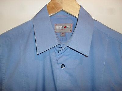 REDFORD Hemd für Herren Größe S 38 slim fit blau langarm