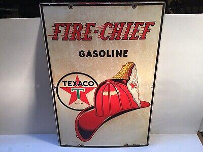 Vintage Texaco Pump Plate Porcelain Sign Can Oil Metal rare tin handy Gas Sunoco