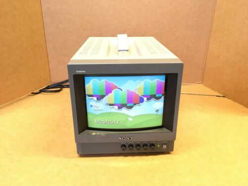"""Sony PVM-8040 Trinitron Color Video Monitor Gaming 8"""" inch Table Monitor"""