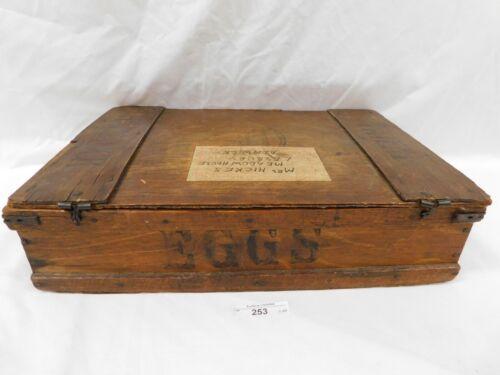 "253/123 ""THE HAMMOCK"" FELT-LINED EGG SAFETY BOX ~ 1920-30S TRAVELING EGG BOX"