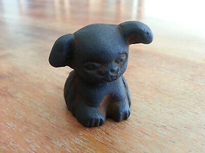 """EMBOSSED GRISWOLD """"PUP"""" PUPPY DOG CAST IRON PAPERWEIGHT NOVELTY ADVERTISING"""
