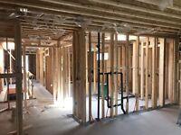 Framing- load bearing wall 647-703-7350