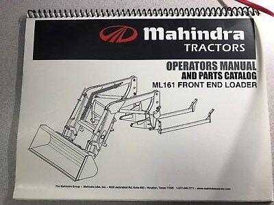 Mahindra Ml161 Front End Loader Operators Manual