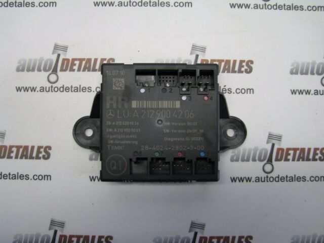 Mercedes C E-Class W212 door control module rear right A2129004206 used 2010