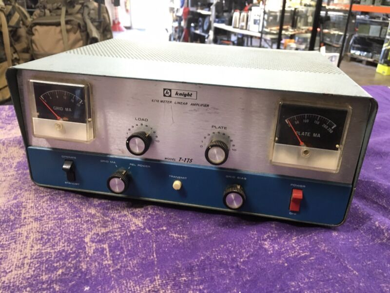 Vintage Knight T-175 6 10 METER HAM Amateur Radio Linear Amplifier - Nice Shape
