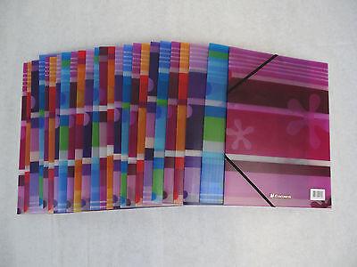 Exacompta Hefte Eckspannermappe Mappe Neu DIN A4 Schulmappen Farben 10 Stk.