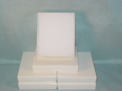 White Jewelry Cardboard Gift Box Cotton Filled Lot Of 6