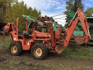 Ditch Witch 8020 Trencher / Plow Combo Unit with Backhoe
