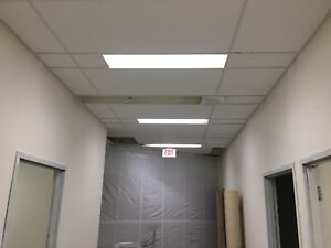 Framing, drywall, taping, bulkheads and drop t-bar ceilings