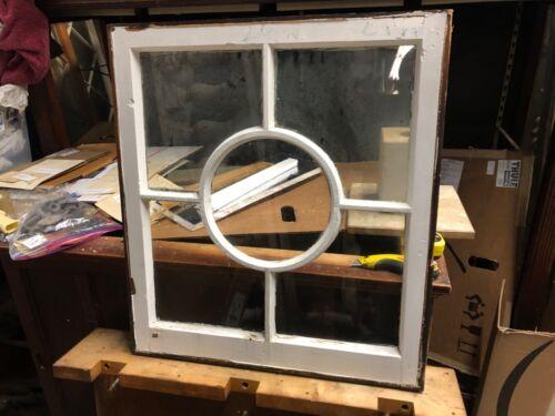 "c1890 vintage unique fenestration window sash frame victorian age 26""w x 29"" h"