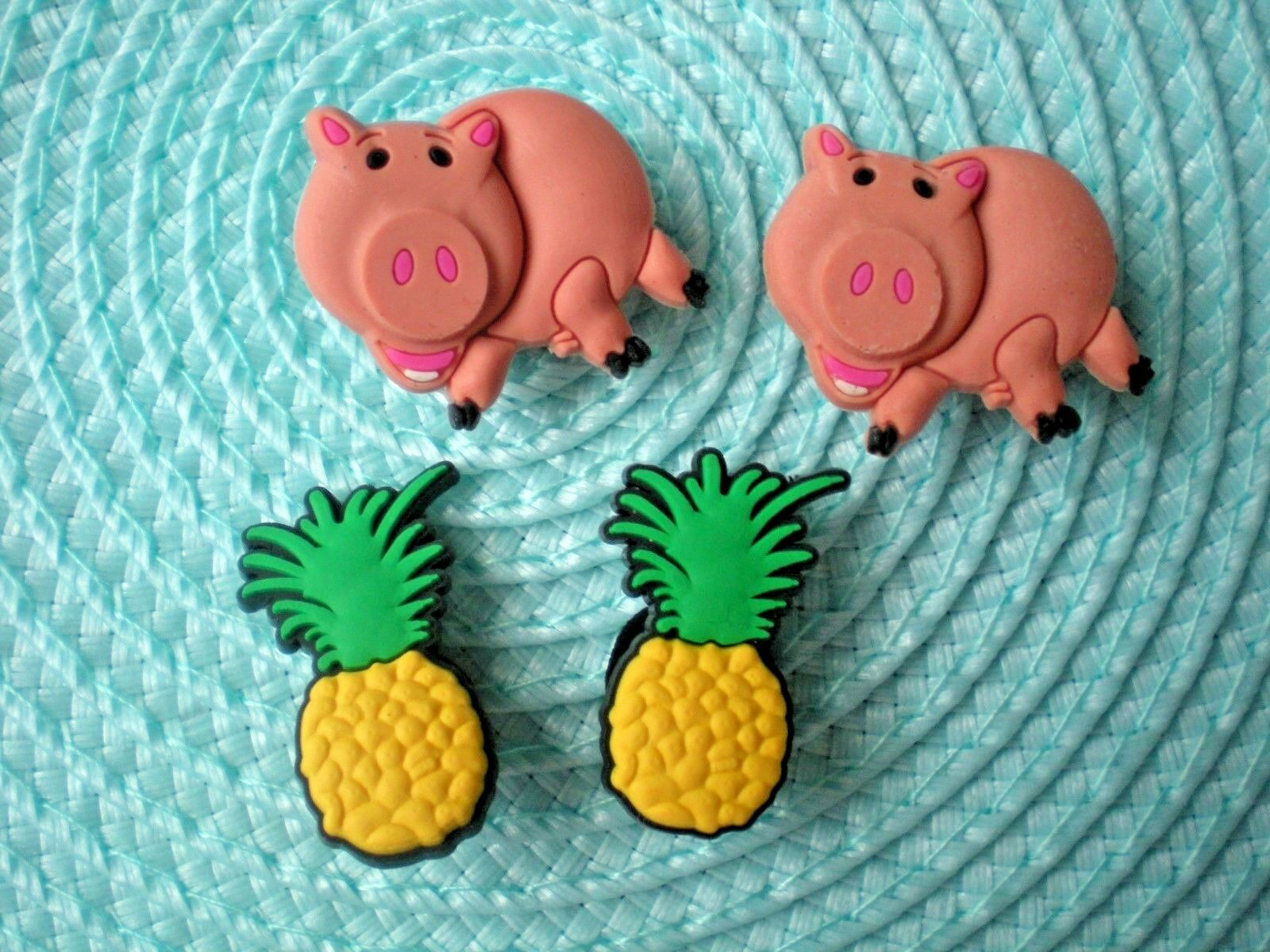 s Clog Shoe Charm Button Plug Accessorie WristBand Pig Pineapple
