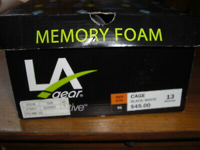NWT LA Gear Cage Mens Size 13 Shoes Memory Foam Black/White Shoes