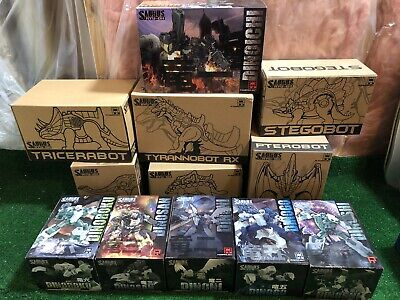 FANSPROJECT SAURUS 3rd PARTY DINOKING SET OF 6 BOTS 6 SHELLS TRANSFORMERS US SEL