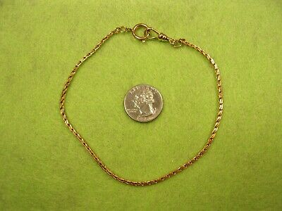 """AMAZINGLY NEAR MINT VTG ANTIQUE 12"""" YELLOW GOLD FILLED POCKET WATCH FOB CHAIN"""