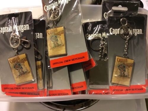 Captain Morgan official crew keychain, NEW, metal with clip and ring, lot of 3