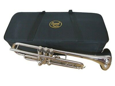 BUY IT NOW! Brand New Silver Bb FLAT Trumpet With Free Case+Mouthpiece+FAST SHIP