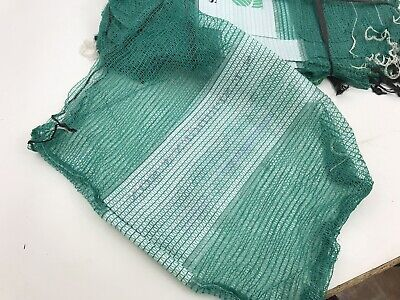 50 X Green Net Sacks 55cm x 80cm / 30Kg Mesh Bags Kindling Logs Potatoes Onions
