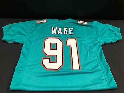 CAM WAKE MIAMI DOLPHINS UNSIGNED CUSTOM STITCHED JERSEY X-LARGE 1 Miami Dolphins Custom Jersey
