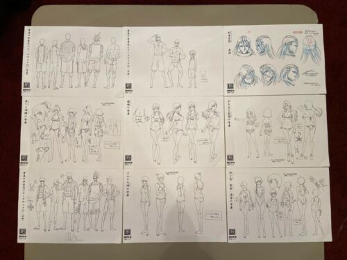 Bleach #228 Settei Sheets (Very Rare Set)!
