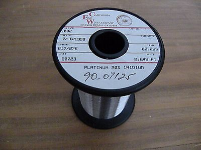 Platinumiridium 8020 .002 Wire X 5 Feet