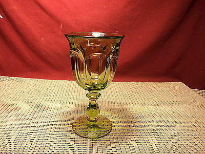 Imperial Crystal Old Williamsburg Verde Green Water Goblet 6 1/2""