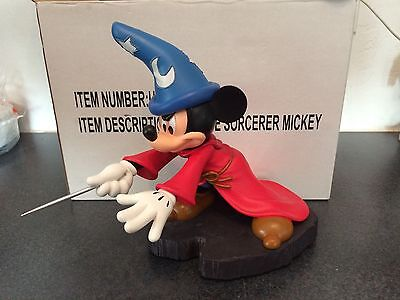 Disney Parks Sorcerer Apprentice Mickey Mouse Statue/ Figure - Hat Lights up