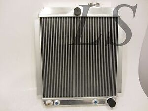 Universal Aluminum Radiator Griffin Hot Rat Rod Ford Chevy Dodge 26