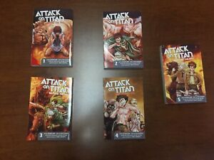 Attack on titan before the fall manga vol 1-5