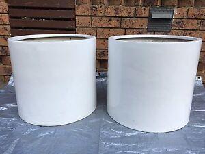2 White pots Rozelle Leichhardt Area Preview