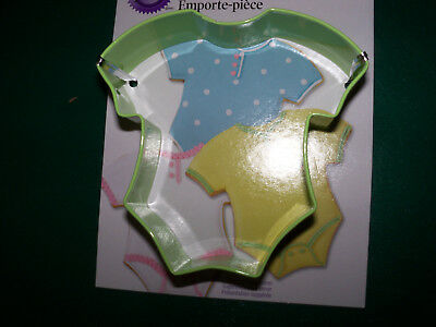 Wilton Baby Outfit Cookie Cutter NEW for Baby Showers, favors](Cookie Cutters For Baby Shower Favors)
