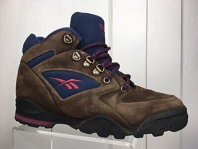Vintage Reebok Suede Hiking Outdoor Athletic Boots Lace Up Retro Women